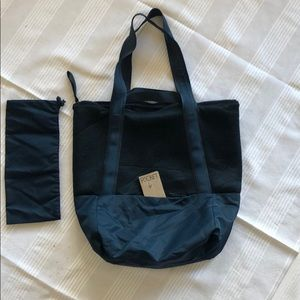 Navy and Teal Large Tote